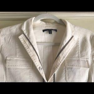 Elie Tahari white summer blazer
